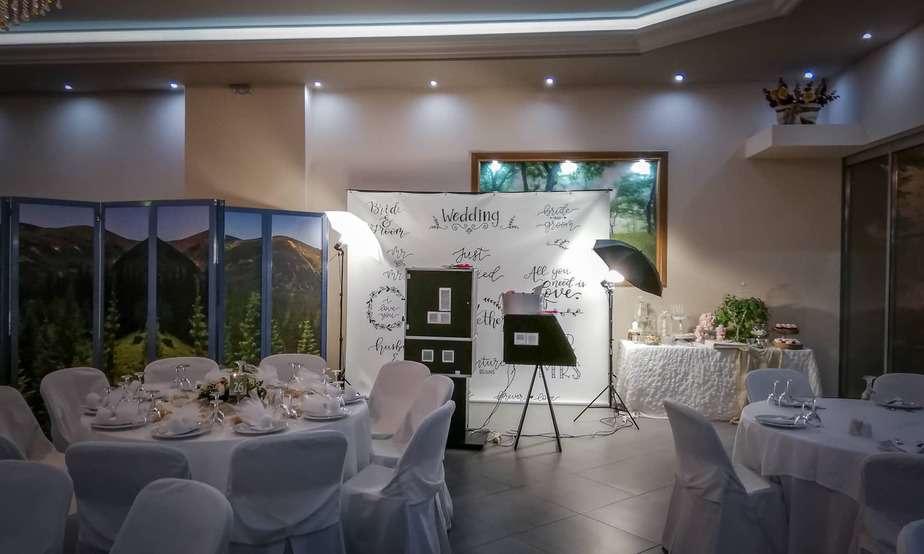 Phootbooth banner για γάμο